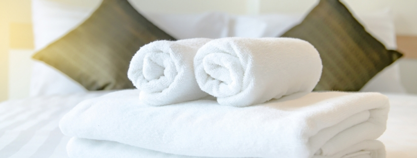 Towel in Hotel Room, Welcome guests, Room service