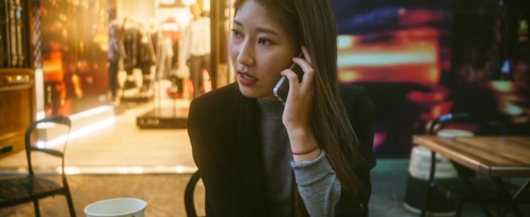 Woman calling customer service